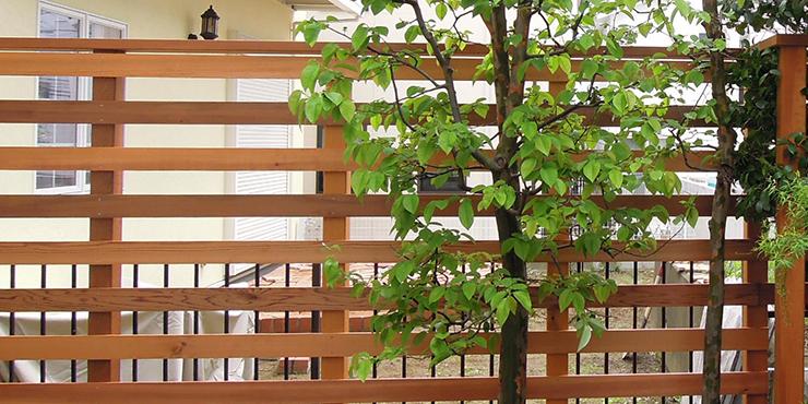 板間90mmの木製フェンス