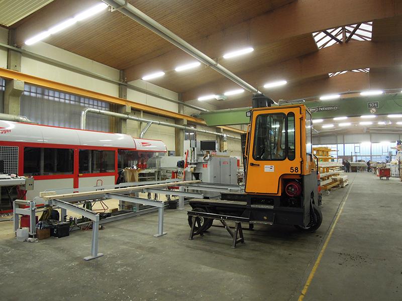 ドイツのプレカット工場