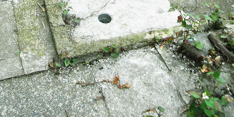 土間コンクリートクラック